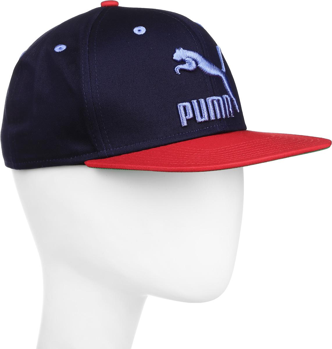 Бейсболка05294207Стильная бейсболка Puma LS ColourBlock SnapBack идеально подойдет для прогулок, занятий спортом и отдыха. Бейсболка выполнена из 100% хлопка, снабжена впитывающей внутренней отделкой и имеет плотный плоский козырек. Модель дополнена специальными отверстиями, обеспечивающими необходимую вентиляцию. Бейсболка на фронтальной части декорирована вышитым объемным логотипом PUMA, а застёжка сзади имеет тканый ярлык с символикой PUMA. Объем бейсболки регулируется при помощи пластиковой застежки на кнопках. Такая бейсболка станет отличным аксессуаром и дополнит ваш повседневный образ.