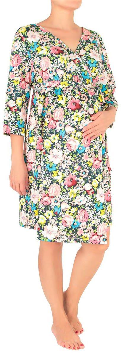 Халат7001702171Легкий, удобный домашний халат с цветочными вкраплениями.