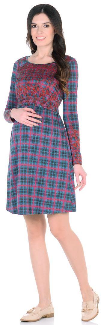 6633522175Изысканное платье для кормления. Узор-клетка, приятная цветовая гамма и удобство этого платья неоспоримы. Оттянув специальную резинку под бюстом, можно накормить незаметно малыша, не попортив одежды.