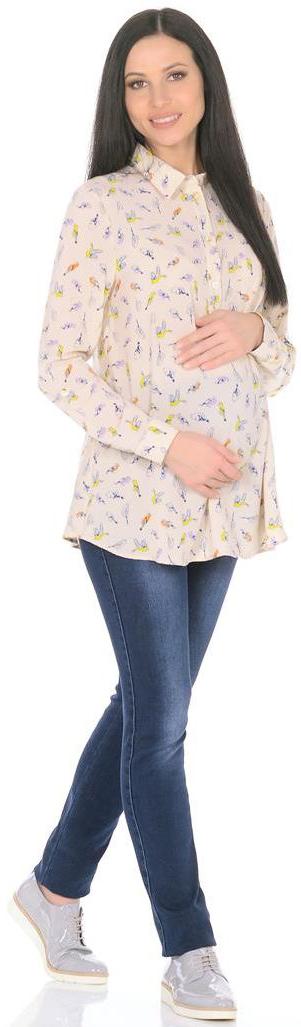 Рубашка3068312172Блузка женская свободного силуэта, длиной чуть ниже бедер. Рукава длинные, с манжетами, с регулировкой хлястиками по длине. Спереди застежка-планка на пуговицы и нагрудный карман. Воротник отложной со стойкой.