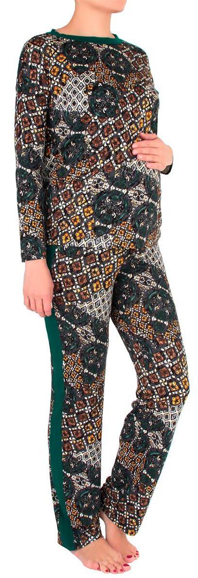 Домашний комплект1168692174Удобный домашний костюм с невероятными геометрическими узорами, приятных оттенков.