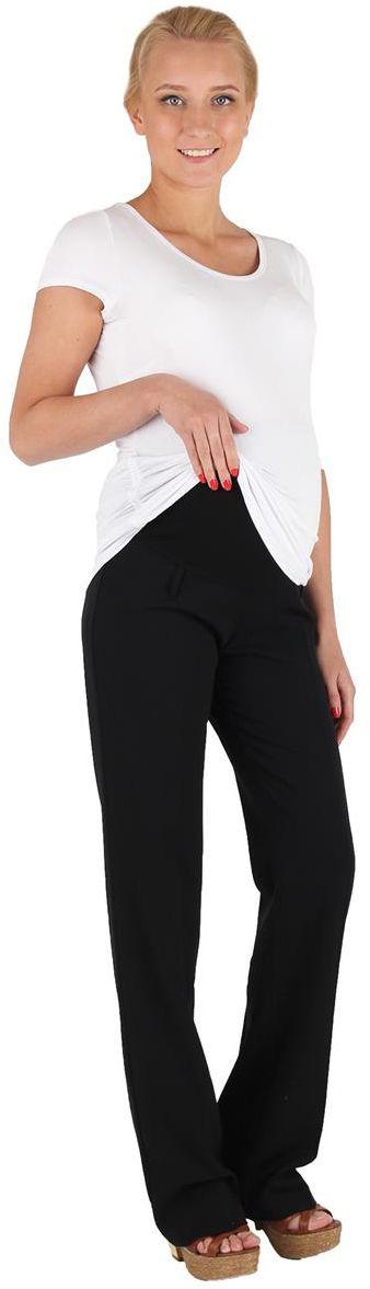 Брюки1050421719Брюки для беременных Mammy Size выполнены из вискозы, полиэстера и спандекса. Свободные брюки для офиса, прекрасно сидят на фигуре, классика.