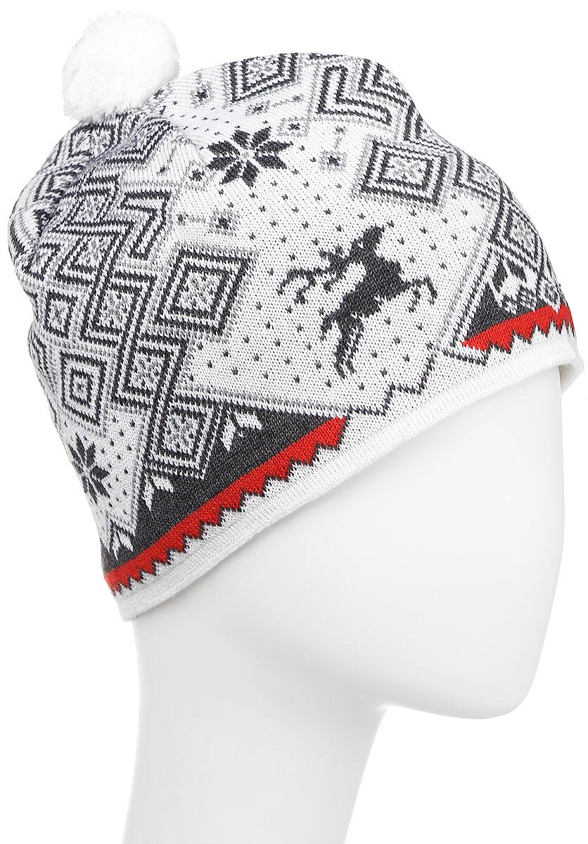 ШапкаA58_100Теплая шапка с маленьким помпоном. Для лучшего сохранения тепла с внутренней стороны повязка, выполненная из нитей Thermolite.