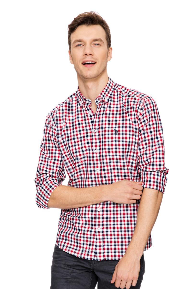 РубашкаG081GL004AVILCALVIN-GL_VR030Стильная мужская рубашка с длинными рукавами и отложным классическим воротником выполнена из натурального хлопка. Модель застегивается на пуговицы.