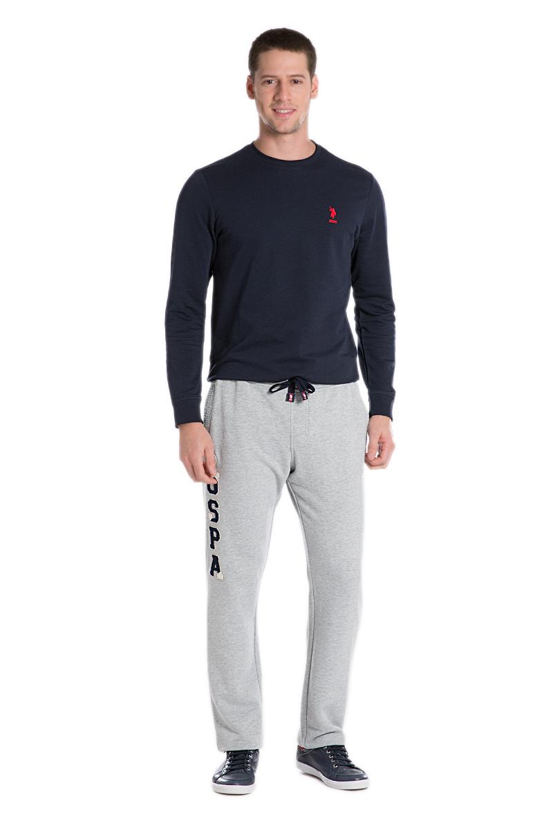 БрюкиG081SZ0OP0NARI_KR0215Спортивные брюки выполнены из высококачественного трикотажа. На талии модель дополнена затягивающимся шнурком, сзади имеется прорезной кармашек.