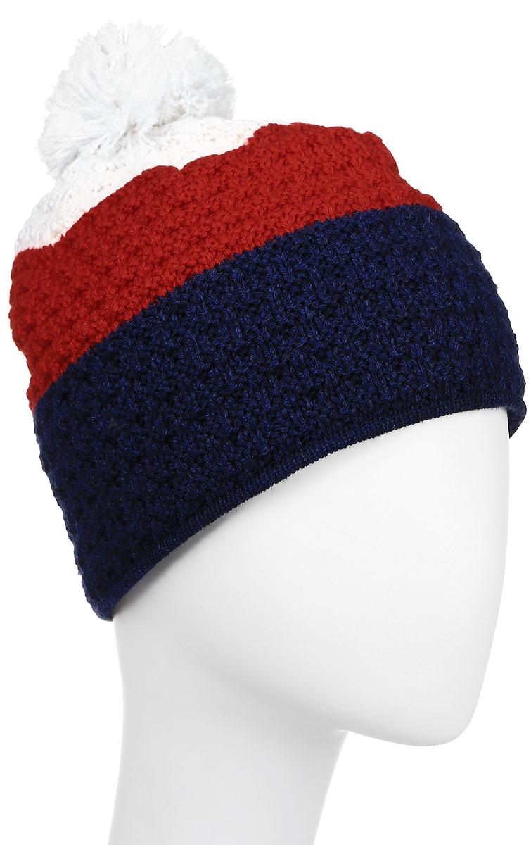 ШапкаA50_101Теплая шапка с помпоном, с внутренней стороны изделия флисовая повязка для лучшего сохранения тепла.