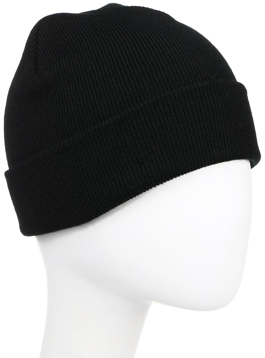 ШапкаB-4100Теплая шапка R.Mountain полностью выполнена из акрила, приятного на ощупь. Модель с подворотом выполнена в универсальном дизайне.