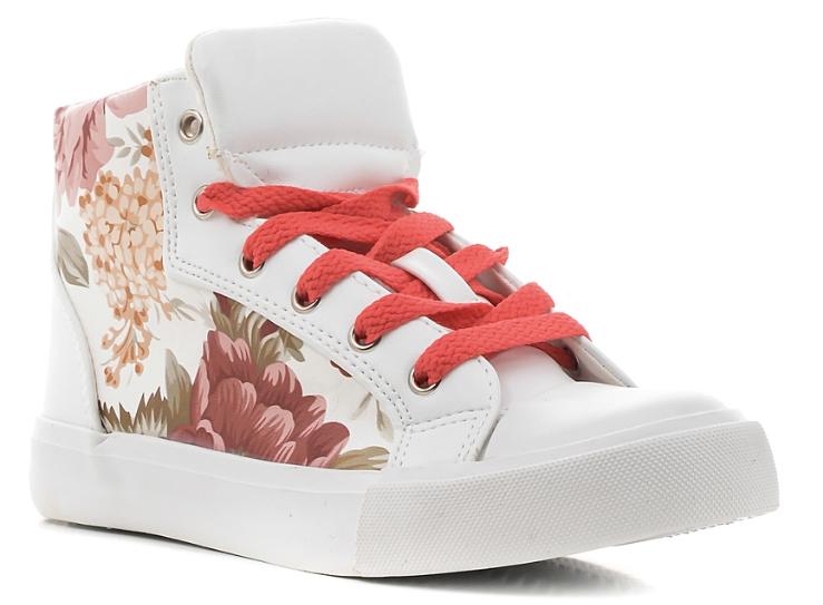 Кеды10352-19Стильные завышенные кеды от Зебра выполнены из искусственной кожи и оформлены ярким цветочным принтом. Шнуровка обеспечивает надежную фиксацию обуви на ноге. Боковая застежка-молния с хлястиком на застежке-липучке позволяет легко снимать и надевать обувь. Внутренняя поверхность из текстиля хорошо впитывает влагу и позволяет ногам дышать. Рифленая стелька из материала ЭВА с поверхностью из натуральной кожи, дополненная супинатором, предотвращает плоскостопие, уменьшает усталость ног и нагрузку на суставы и позвоночник. Подошва с рифлением обеспечивает идеальное сцепление с любой поверхностью.