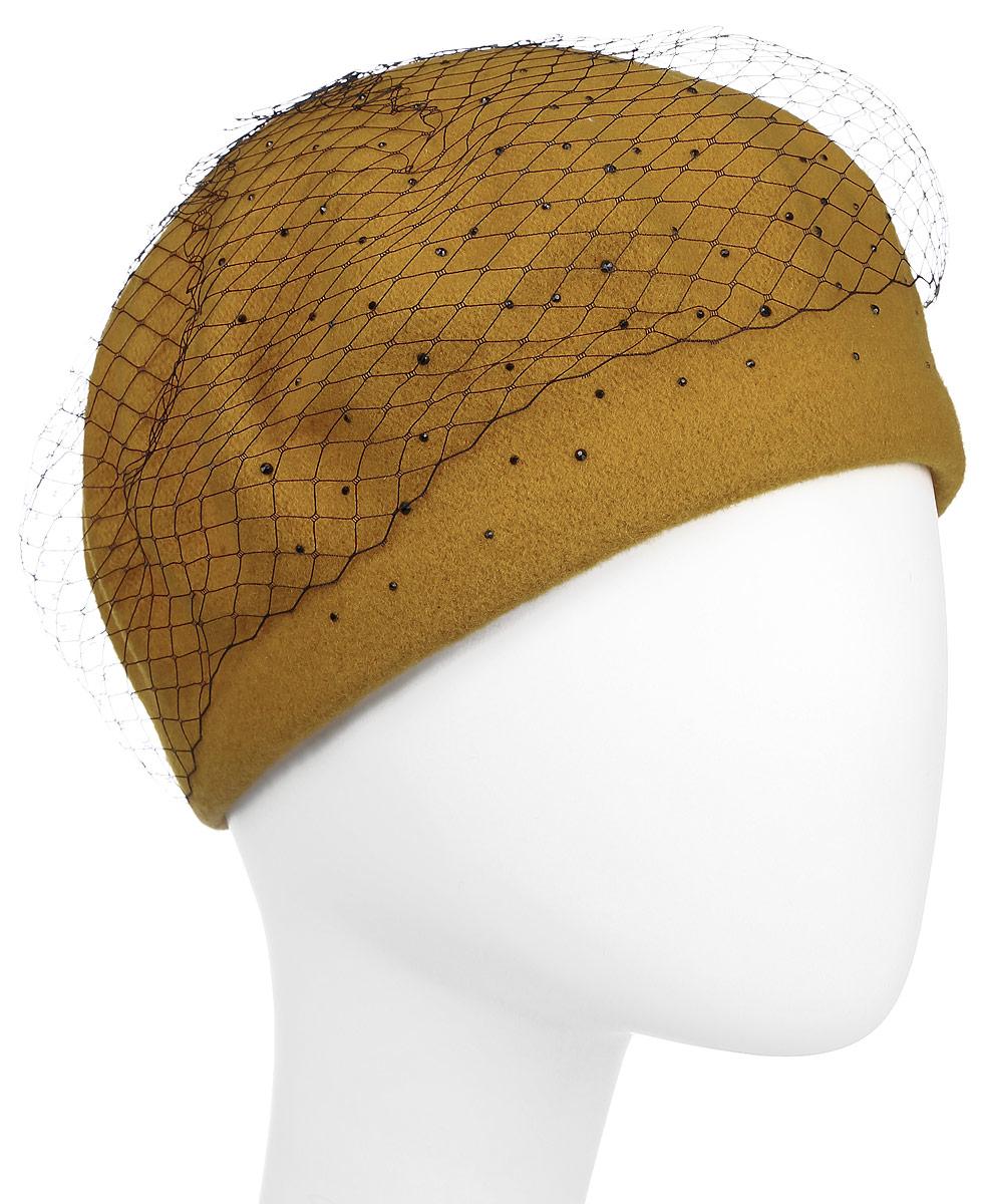 Берет990985Теплый берет Avanta, выполненный из натуральной шерсти, отлично дополнит ваш образ в холодную погоду. Модель оформлена стразами и декорирована сетчатым материалом. Такой берет, составит идеальный комплект с модной верхней одеждой, в нем вам будет уютно и тепло! Уважаемые клиенты! Размер, доступный для заказа, является обхватом головы.