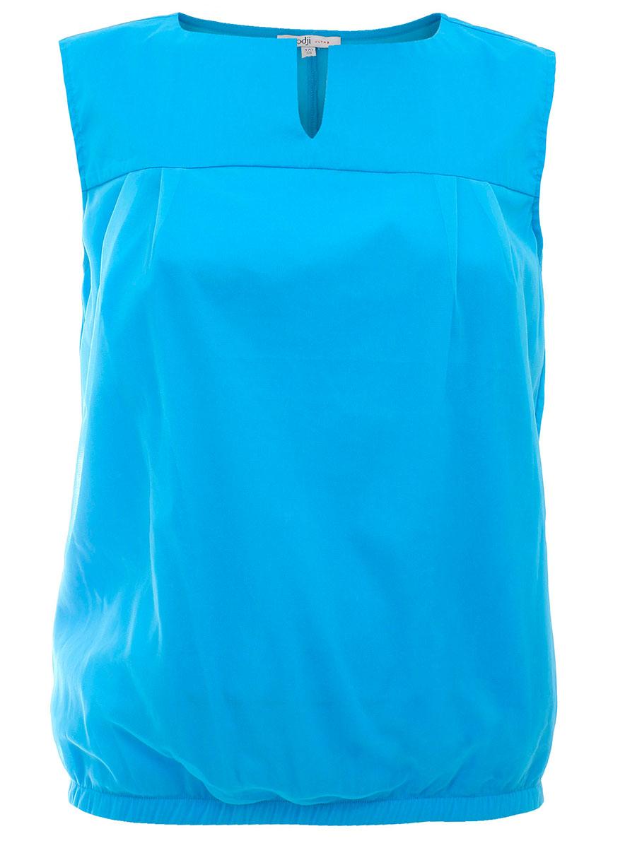 Блузка11400349M/15902/7300NБлузка женская oodji Ultra выполнена из высококачественного материала. Модель с круглым вырезом горловины дополнена снизу эластичной вставкой.