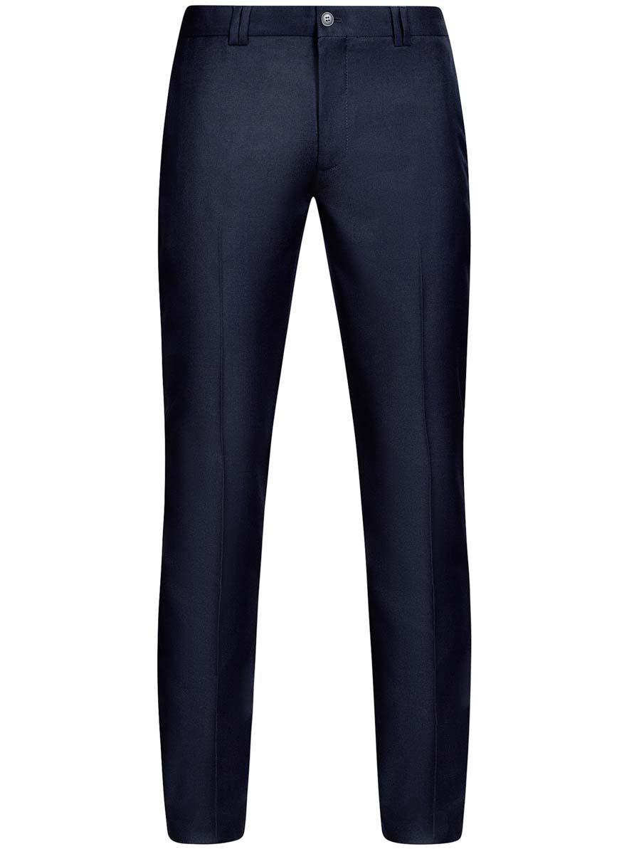 Брюки2B210016M/46317N/7500NМужские брюки oodji Basic выполнены из высококачественного материала. Классическая модель стандартной посадки застегивается на пуговицу в поясе и ширинку на застежке-молнии. Пояс имеет шлевки для ремня. Спереди брюки дополнены втачными карманами, сзади - прорезными.