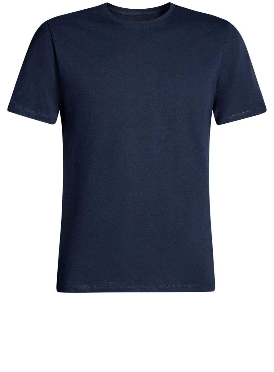 Футболка5B611003M/44239N/1000NКомфортная мужская футболка от oodji с короткими рукавами и круглым вырезом горловины выполнена из натурального хлопка.