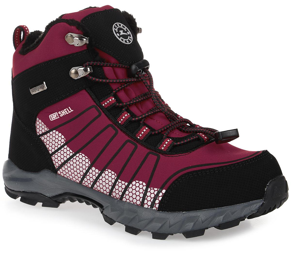10969-4Модные ботинки от Зебра придутся по душе вашей дочурке! Модель изготовлена из ветро- и влагонепроницаемого материала. Эластичная шнуровка надежно зафиксирует обувь. Подкладка и стелька, исполненные из ворсистого материала, согреют ножки в холодную погоду. Подошва с оригинальным рисунком протектора гарантирует идеальное сцепление с любой поверхностью.