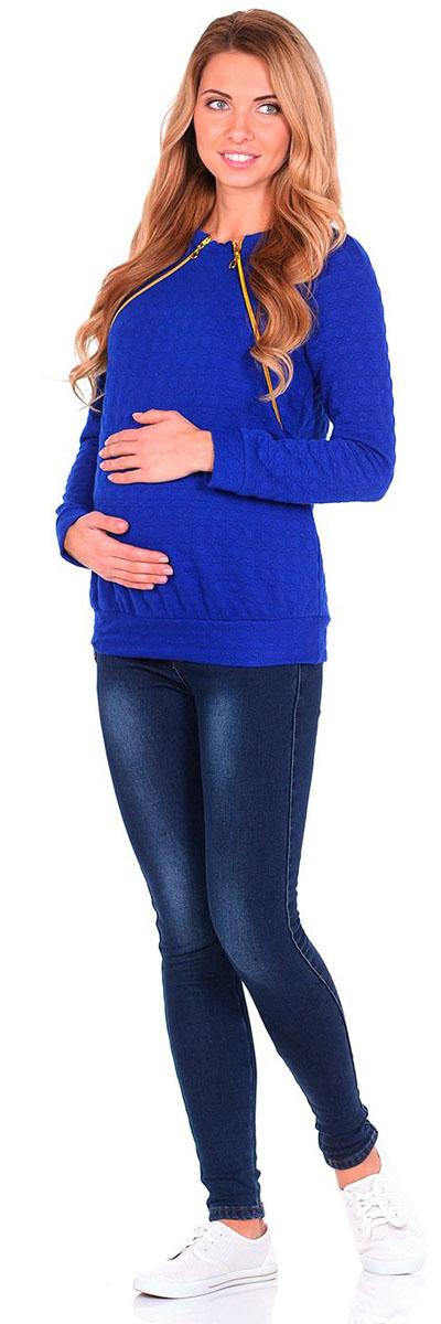 Свитшот1389.02 N.V.Свитшот для беременных и кормящих Nuova Vita выполнен из качественного комбинированного материала. Модель с круглым вырезом горловины и длинными рукавами.