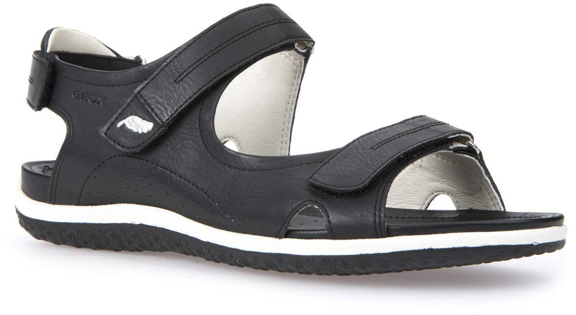 СандалииD52R6A000EKC9997Комфортные и практичные сандалии Geox - отличный вариант на каждый день. Модель выполнена из полиуретана. Сандалии дополнены застежками-липучками. Такие сандалии отлично дополнят образ человека, ведущего активный образ жизни.