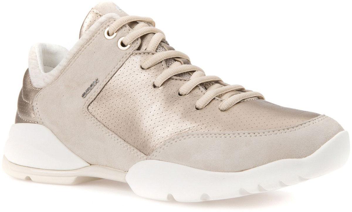 КроссовкиD642NA0BV21CB5H6Модные женские кроссовки Geox покорят вас своим удобством. Модель выполнена из высококачественной натуральной кожи. Шнуровка надежно фиксирует модель на ноге. Стильные кроссовки прекрасно впишутся в ваш гардероб.