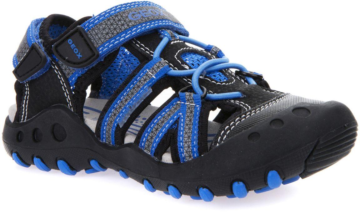 СандалииJ42E1C014CEC0052Комфортные и практичные сандалии Geox с закрытым мысом - отличный вариант на каждый день. Модель выполнена из полиуретана. Сандалии дополнены застежкой-липучкой. Такие сандалии отлично дополнят образ человека, ведущего активный образ жизни.