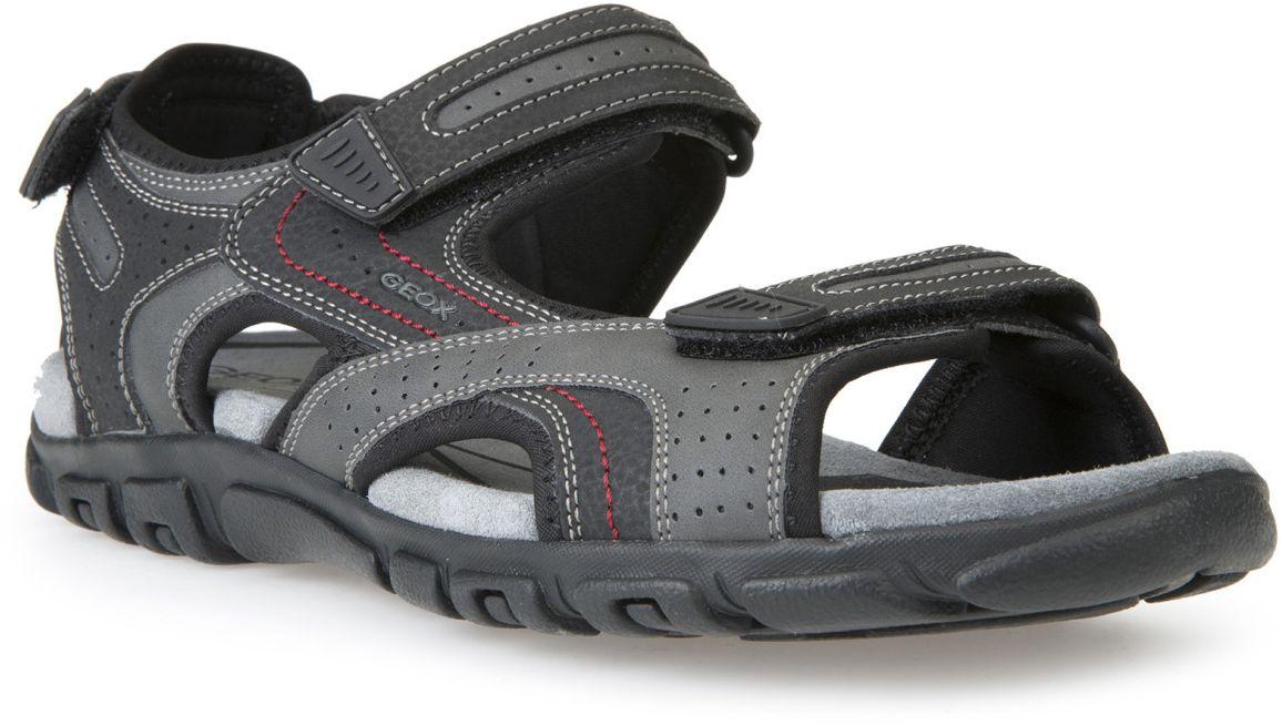 СандалииU6224A0BC50C0043Комфортные и практичные сандалии Geox - отличный вариант на каждый день. Модель выполнена из полиэстера. Сандалии дополнены застежками-липучками. Такие сандалии отлично дополнят образ человека, ведущего активный образ жизни.