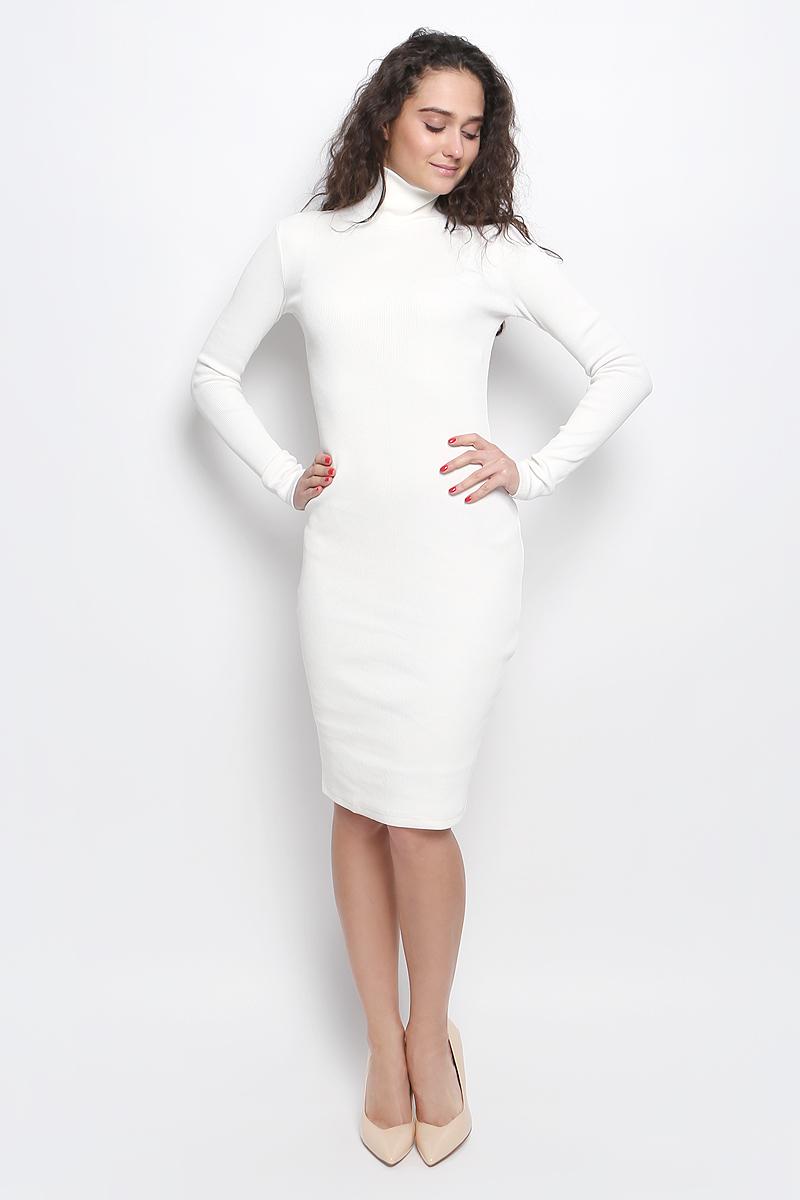ПлатьеR041643Платье Rocawear выполнено из хлопка с добавлением лайкры. Модель средней длины с длинными рукавами имеет воротник-гольф. Платье великолепно тянется и превосходно садится по фигуре благодаря эластичной структуре.