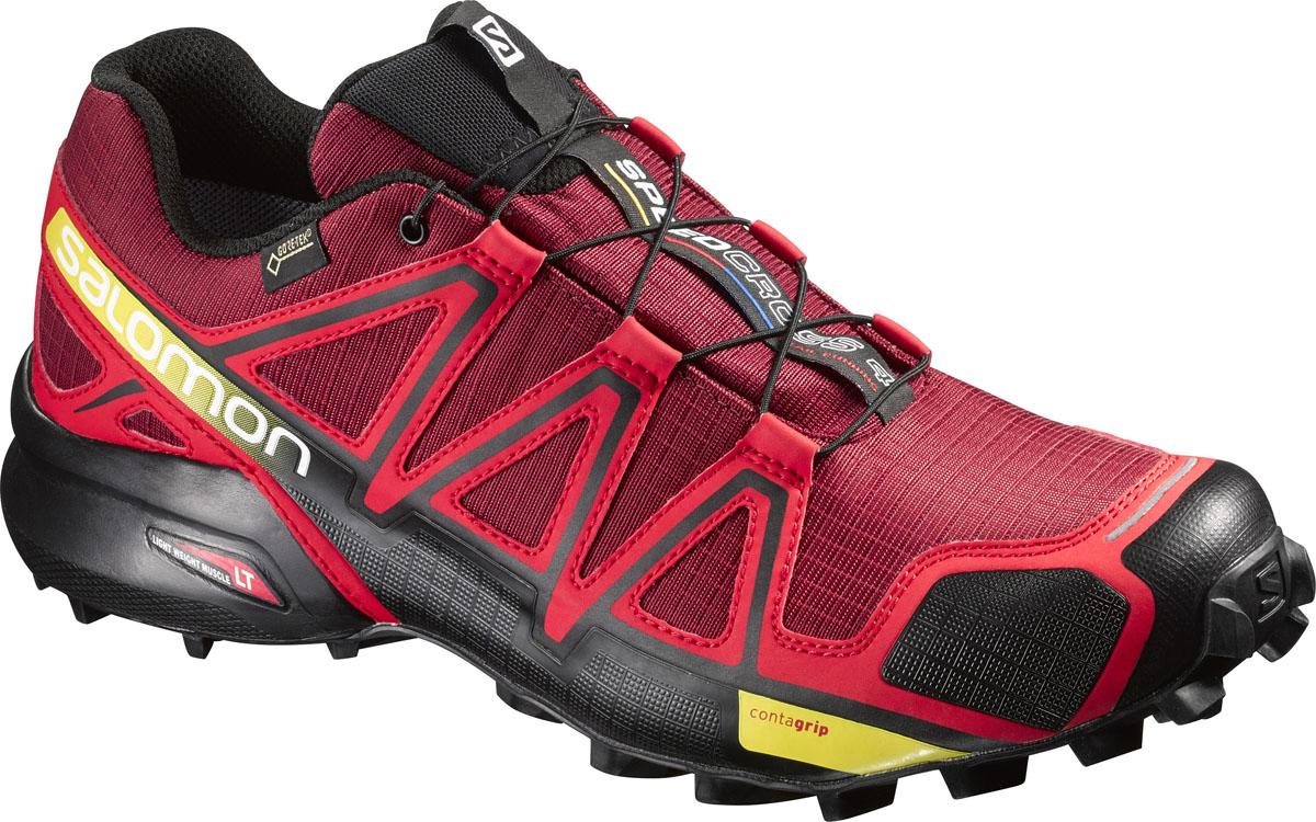 L38315000Четвертое поколение легендарных трейл-раннинговых кроссовок с агрессивным сцеплением поможет быстро прорваться по пересеченной местности с мягкой поверхностью благодаря непромокаемой защите мембраны GTX .