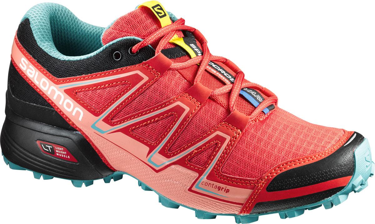 КроссовкиL39242100Speedcross Vario обладают амортизацией и точной посадкой обуви Speedcross для бега по твердой поверхности и мягким протектором, обеспечивающим трение.