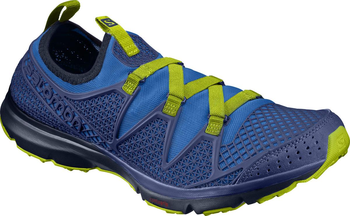 L39470600Новый уровень качества на суше и в воде: сандалии Crossamphibian сочетают подошву беговой обуви, обладающую хорошим сцеплением на мокрой поверхности, с плотно прилегающим эластичным верхом из сетчатой ткани, который быстро сохнет и защищает от попадания камней. Отлично подходит для интенсивных нагрузок в жаркую или сырую погоду.
