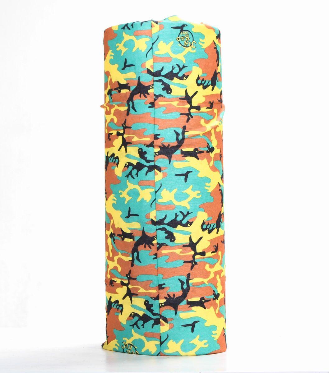 Шарф15-04Мультишарфы можно встретить под разными названиями: мультишарф, мультибандана, платок трансформер, Baff, но вне зависимости от того как Вы назовете этот аксессуар, его уникальные возможности останутся неизменными. Вы с легкостью и удобством можете одеть этот мультишарф на голову и шею 12 различными способами. В сильные морозы, пронизывающий ветер или пыльную бурю - с мультишарфом Вы будуте готовы к любым капризам природы Авторская работа.