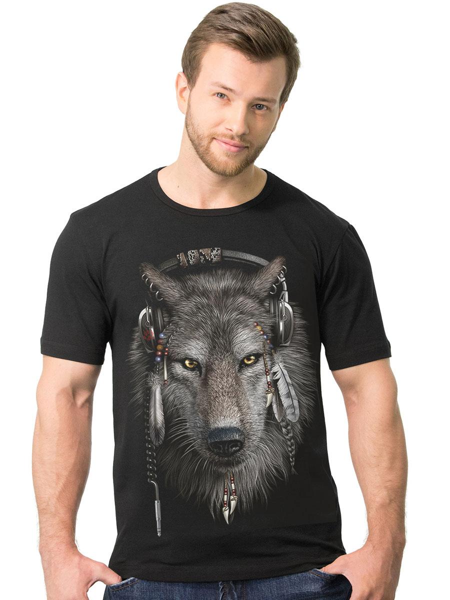 Футболка2-85Стильная мужская футболка MF Волк в наушниках выполнена из натурального хлопка. Модель с круглым вырезом горловины и короткими рукавами оформлена оригинальным принтом. Воротник дополнен мягкой эластичной бейкой. Универсальный цвет позволяет сочетать модель с любой одеждой.