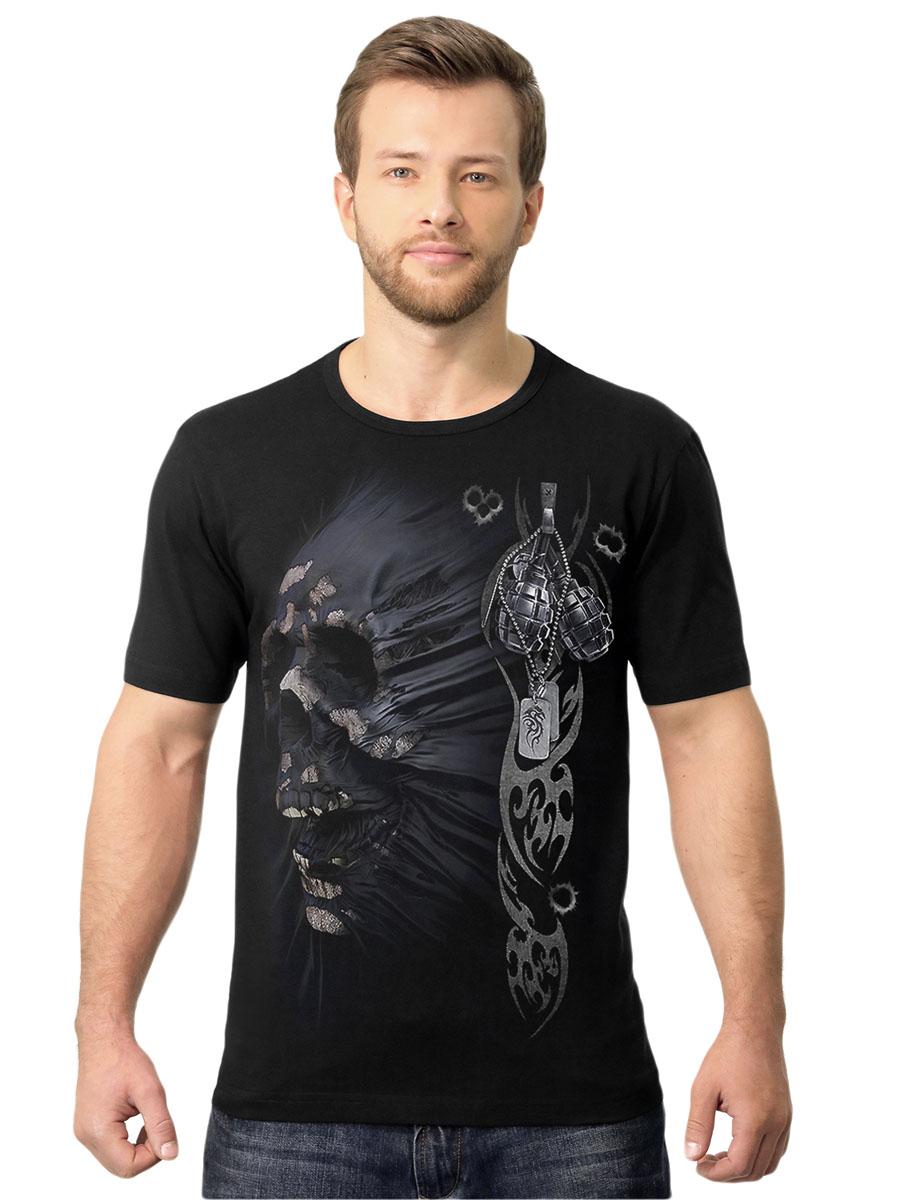 Футболка2-115Стильная мужская футболка MF Череп милитари выполнена из натурального хлопка. Модель с круглым вырезом горловины и короткими рукавами оформлена абстрактным принтом. Воротник дополнен мягкой эластичной бейкой. Универсальный цвет позволяет сочетать модель с любой одеждой.