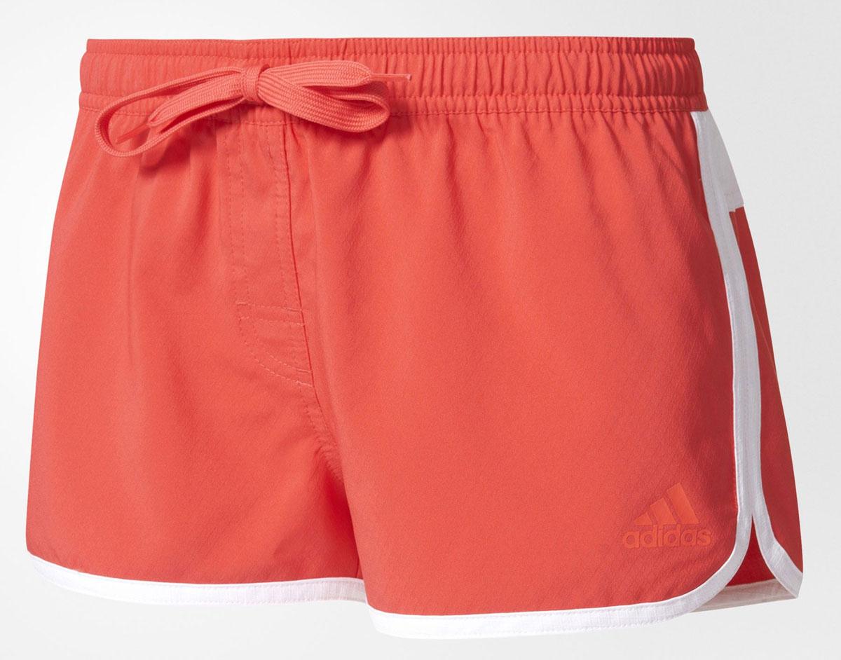 ШортыBJ9777Шорты пляжные женские adidas Bg1 3S Short выполнены из 100% полиэстера. Удобные и быстросохнущие.