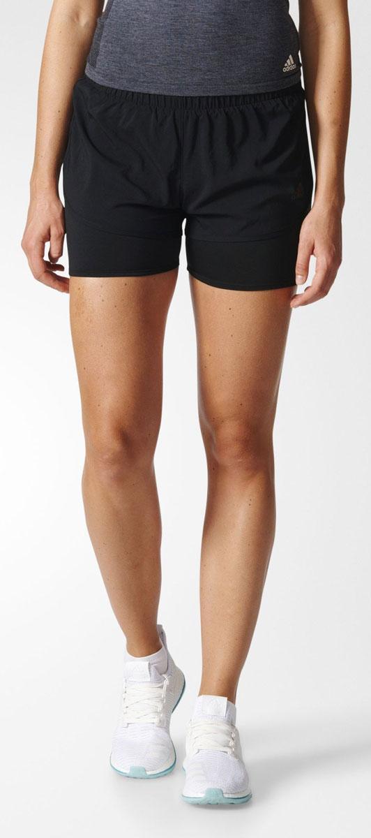 ШортыAZ2938Шорты женские adidas M10 Dual Sho выполнены из 100% полиэстера. Идеальные беговые шорты для пробежки в теплый солнечный день. Модель выполнена из ткани с технологией climalite, сохраняющей чувство комфорта и сухости.