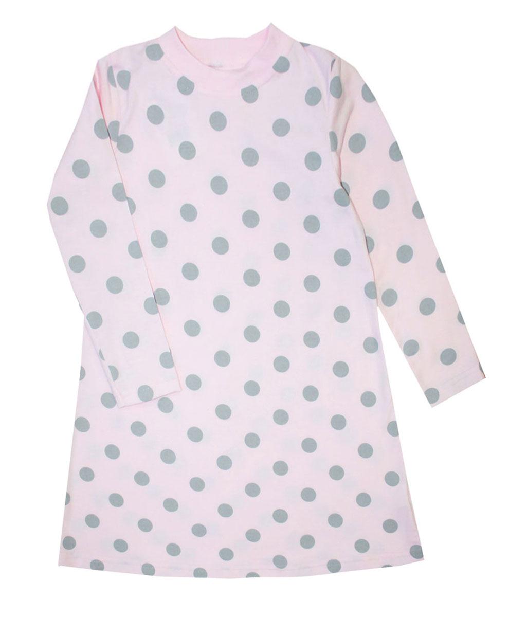 Платье21743Платье для девочки КотМарКот Горох выполнено из натурального хлопка. Модель средней длины с длинными рукавами имеет круглый вырез горловины, отделанный эластичной бейкой. Платье оформлено принтом в крупный горох.