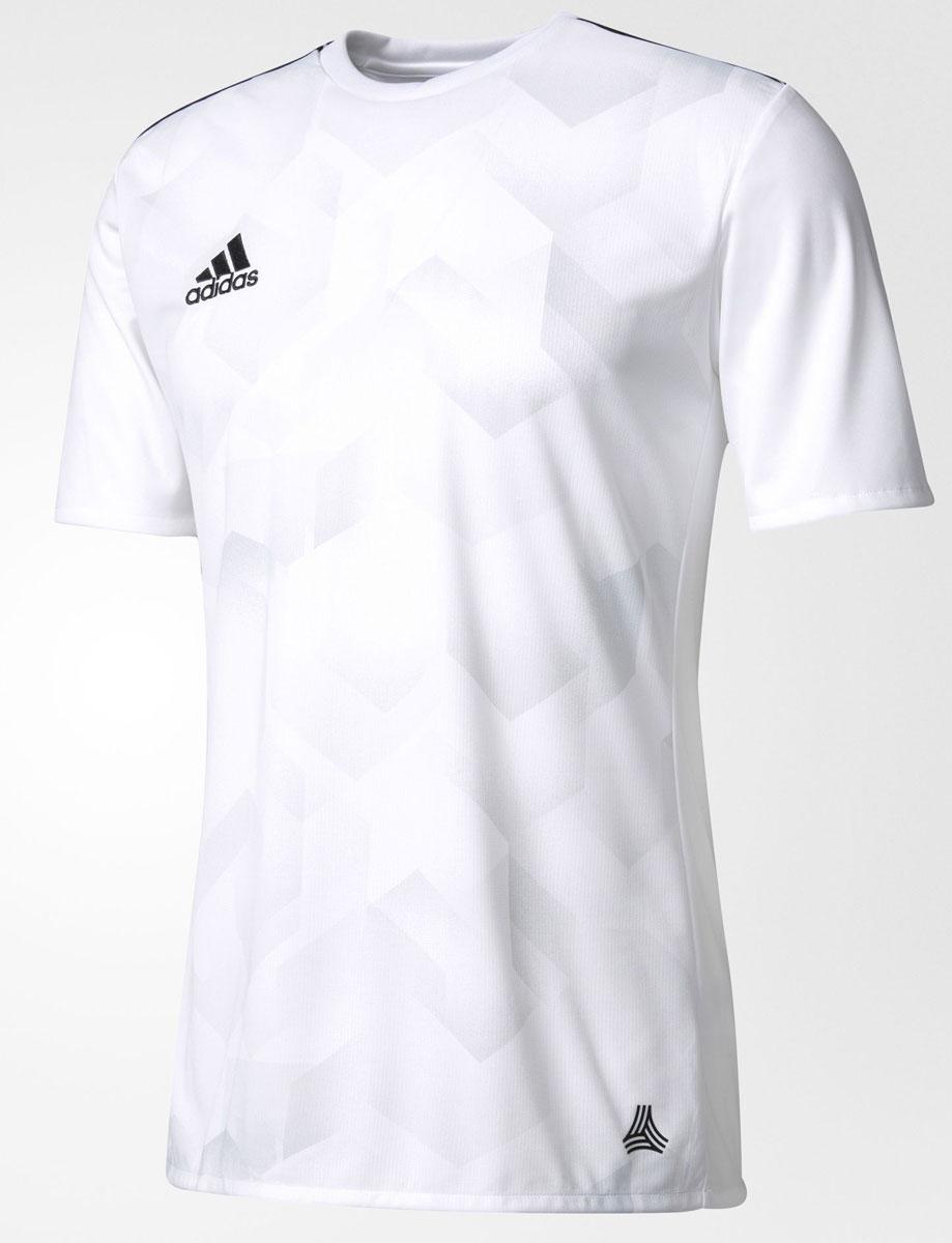 ФутболкаBK3755Мужская футболка adidas Tanc Grajsy выполнена из 100% полиэстера. Модель с круглым вырезом горловины и короткими рукавами прекрасно подходит для интенсивных тренировок.