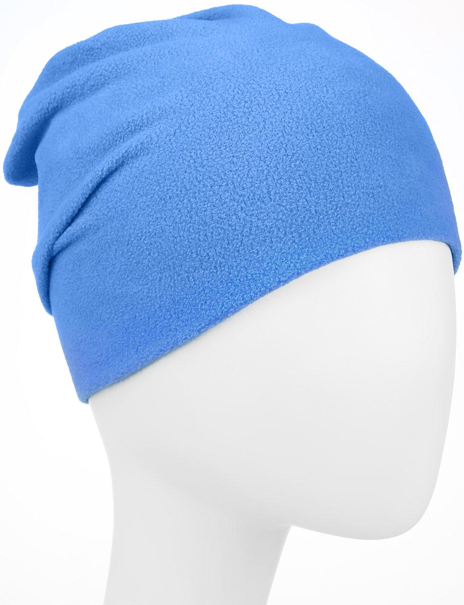 70314_BAU_вар.1Мягкая и уютная детская шапка Boom! изготовлена из двухслойного флиса. Однотонная модель оформлена нашивкой с логотипом бренда. Размер, доступный для заказа, является обхватом головы ребенка.
