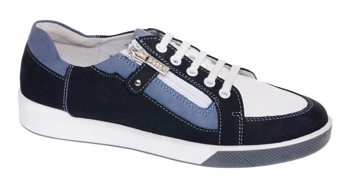Полуботинки3/4-518601611Комфортные полуботинки от Elegami выполнены из натуральной кожи и нубука. Модель оформлена контрастной прострочкой. Внутренняя поверхность и стелька из натуральной кожи обеспечат комфорт при носке. Шнуровка и застежка-молния надежно фиксируют обувь на ноге. Подошва выполнена из прочного ТЭП-материала. Рифление на подошве гарантирует идеальное сцепление с поверхностью. Стильные полуботинки займут достойное место в весенне-осеннем гардеробе.
