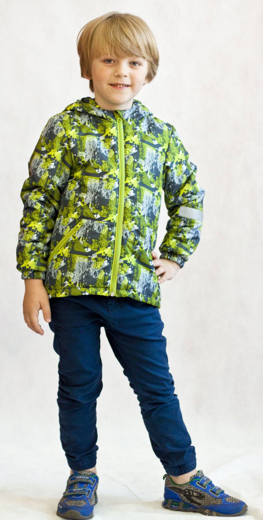 Куртка2К1719Легкая и удобная весенняя куртка для юных модников от Jicco By Oldos. Благодаря утеплителю плотностью 100 г/м2 куртку можно носить при температуре +10…-5 С. Она прекрасно защитит от ветра и весеннего дождика. Куртка имеет все самое необходимое для комфортной носки. Внутренняя ветрозащитная планка по всей длине молнии с защитой подбородка от прищемления. Низ куртки регулируется по ширине. Капюшон не съемный, для лучшего прилегания по краям вшита резинка. Манжеты присобраны на резинку. Есть светоотражающие элементы и карманы на молнии.
