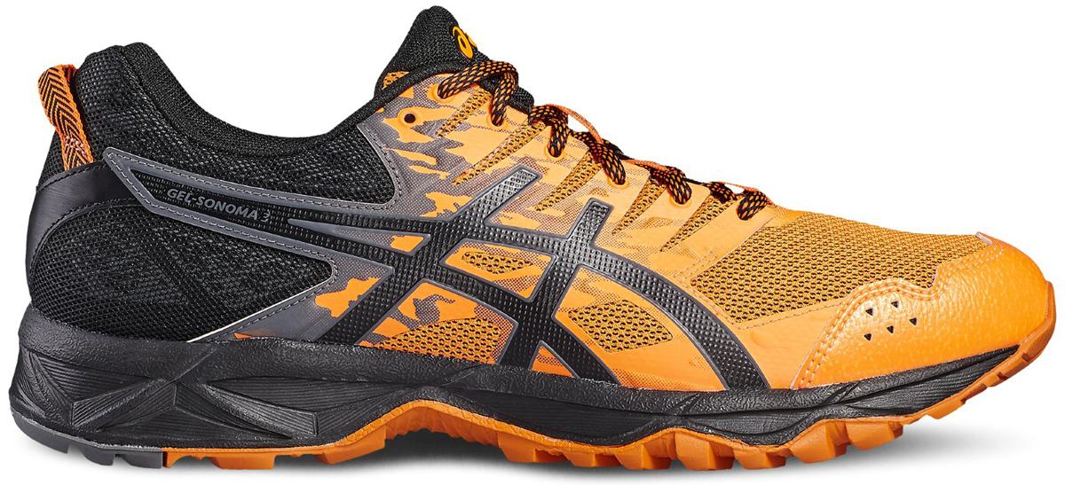 КроссовкиT724N-3090Третье поколение кроссовок ASICS GEL-SONOMA 3 для бега по пересеченной местности, обладает высокой износостойкостью. Благодаря новому дизайну верха, кроссовки обеспечивают превосходную посадку и защиту при движении. Они выполнены из лёгкой синтетического материала и воздухопроницаемого сетчатого материала. Светоотражающие вставки 3M. Надежная износостойкая резина AHAR+. ASICS Гель (специальный вид силикона) в носке снижает нагрузку на пятку, колени и позвоночник спортсмена. Trusstic System - литой элемент под центральной частью подошвы, предотвращает скручивание стопы.