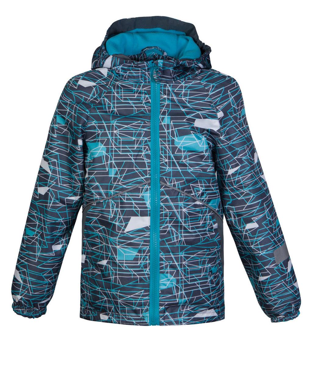 Ветровка3К1718Легкая весенняя ветровка Старт от Jicco By Oldos из принтованной курточной ткани станет украшением весеннего гардероба. Такая курточка идеально подойдет на ветреную погоду с температурой +10…+20°С, она защитит от легкого весеннего дождя и переменчивого ветра. Модель застегивается на молнию. По всей длине молнии имеется внутренняя ветрозащитная планка с защитой подбородка от прищемления. Модель имеет флисовую подкладку на груди, спинке и в капюшоне. Капюшон не отстегивается, для лучшего прилегания по бокам вшита резинка. Манжеты рукавов на резинке, низ куртки снабжен регулируемой утяжкой. Светоотражающие элементы для безопасной прогулки в темное время суток. С лицевой стороны расположены карманы на молнии.