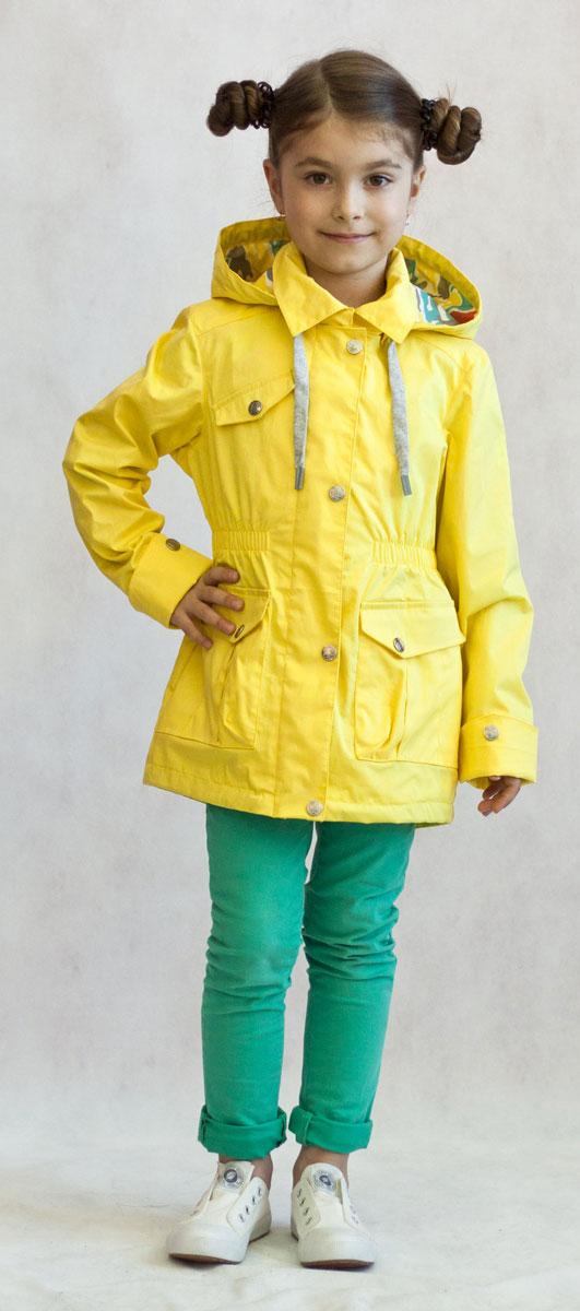 3К1702-1Яркая и легкая ветровка от Oldos украсит гардероб юной модницы и пригодится в прохладный солнечный весенний денек! Внешняя ткань из хлопка с водоотталкивающей пропиткой дышит и защищает от ветра. Принтованная подкладка из трикотажа приятна на ощупь. Объем капюшона можно легко отрегулировать при необходимости. Талия подчеркнута внутренней резинкой. Имеются вместительные накладные карманы с клапаном на кнопке. Рукава прямые с декоративным отворотом. Светоотражающие элементы. Ветровка подойдет на температуру +10...+20 С.