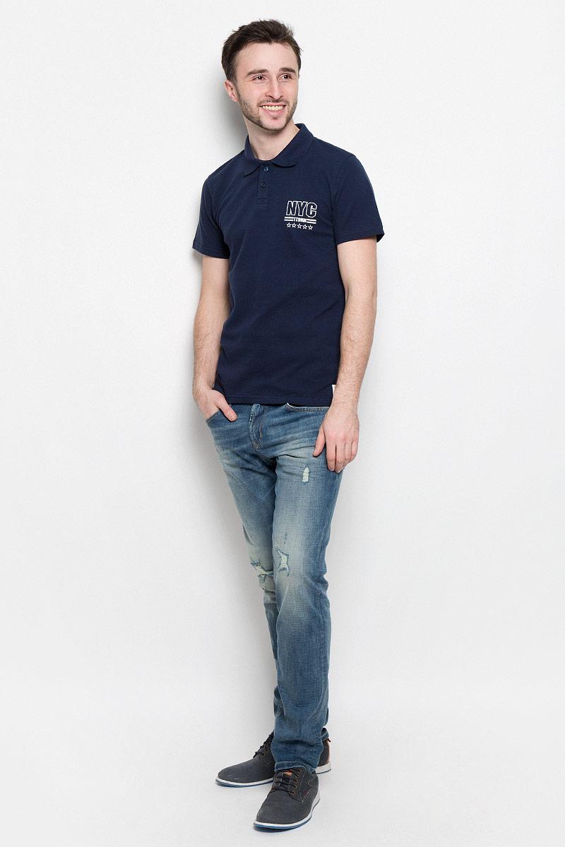 1531031.01.12_6740Стильное мужское поло Tom Tailor Denim выполнено из натурального хлопка. Модель с отложным воротником и короткими рукавами спереди застегивается на две пуговицы.