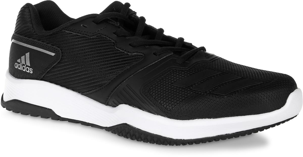 S80681Кроссовки для фитнеса adidas Gym Warrior 2 M выполнены из текстиля, искусственной кожи и полимера. Модель оформлена фирменными накладками. Шнурки надежно зафиксируют модель на ноге. Внутренняя поверхность из сетчатого текстиля комфортна при движении. Стелька выполнена из легкого ЭВА-материала с поверхностью из текстиля. Подошва изготовлена из высококачественной резины и дополнена рельефным рисунком.