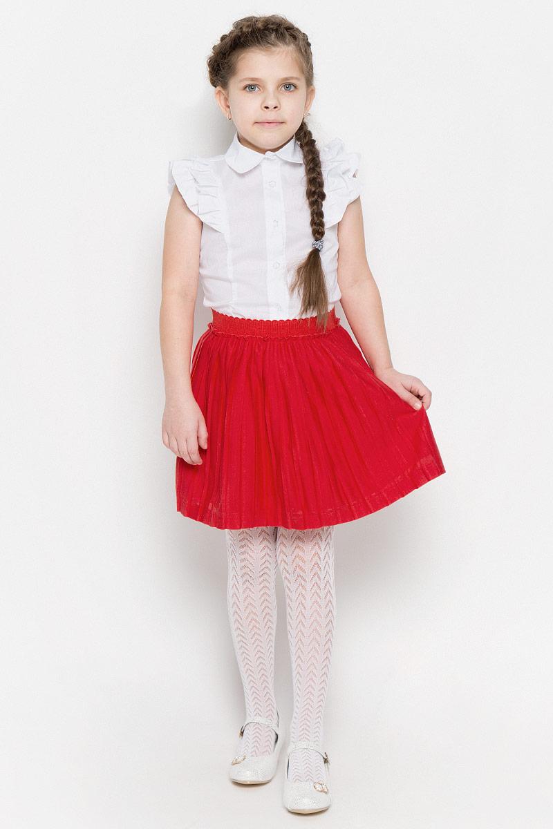 Юбка362037Яркая плиссированная юбка выполнена из легкого воздушного материала. Мягкая трикотажная подкладка и пояс на мягкой резинке обеспечивают максимальный комфорт. Яркий цвет позволяет создавать стильные сочетания.