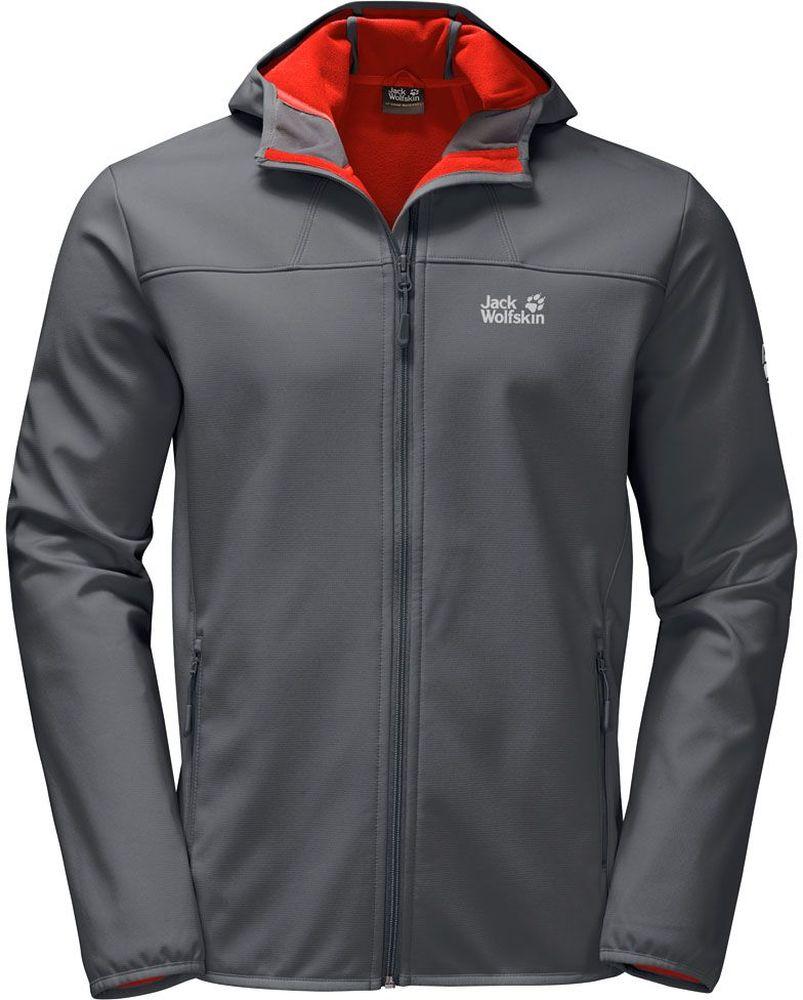 Куртка1304001-6116Ветронепроницаемая, водоотталкивающая и хорошо дышащая куртка софтшелл с капюшоном.