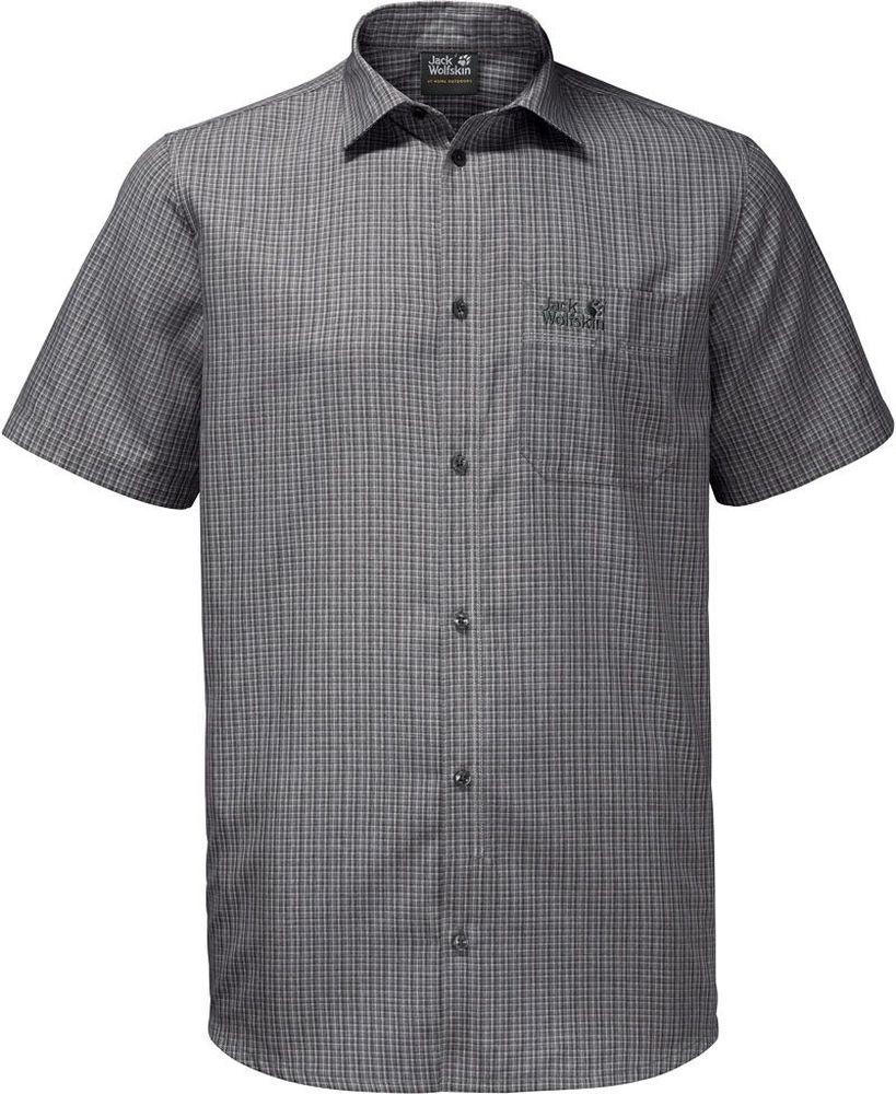 1401052-7851Рубашка для отдыха и путешествий. Ткань активно отводит влагу.