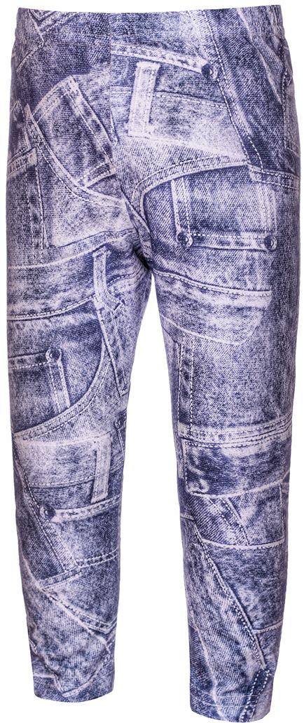 ЛеггинсыБЖ10111Леггинсы для девочки M&D изготовлены из натурального хлопка с добавлением лайкры. Леггинсы имеют широкую эластичную резинку на поясе. Изделие оформлено стильным джинсовым принтом.
