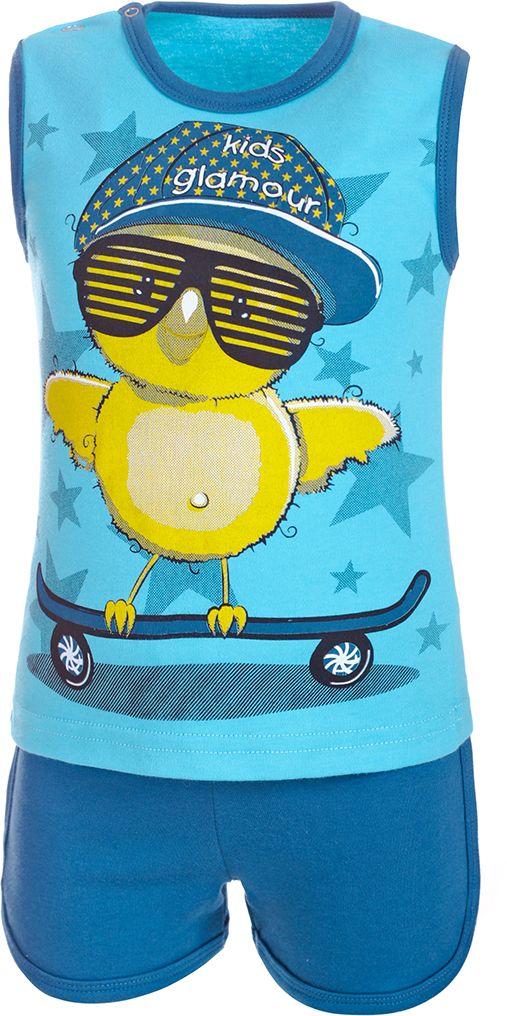Комплект одеждыКМ14010128Комплект для мальчика M&D состоит из майки и шорт. Комплект изготовлен из натурального хлопка, который не раздражает кожу и хорошо вентилируется. Майка с круглым вырезом горловины по плечу дополнена двумя металлическими кнопками. Удобные шорты имеют эластичную резинку на талии. Майка оформлена оригинальным принтом.