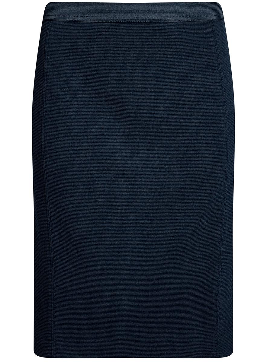 Юбка14101084-1/46389/7900NСтильная юбка облегающего кроя выполнена из высококачественной ткани в рубчик. Сзади модель дополнена шлицей.