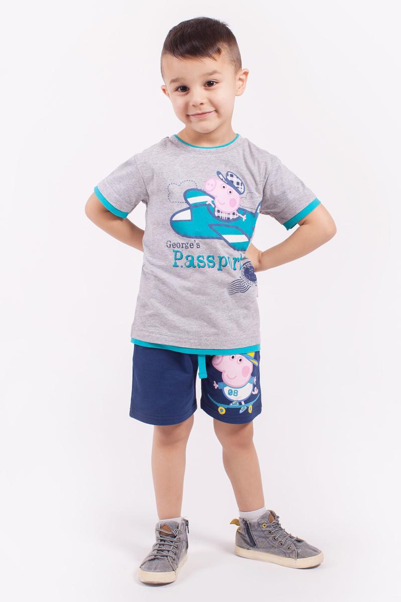 ФутболкаZB 02289-M1Удобная футболка для мальчика с принтом