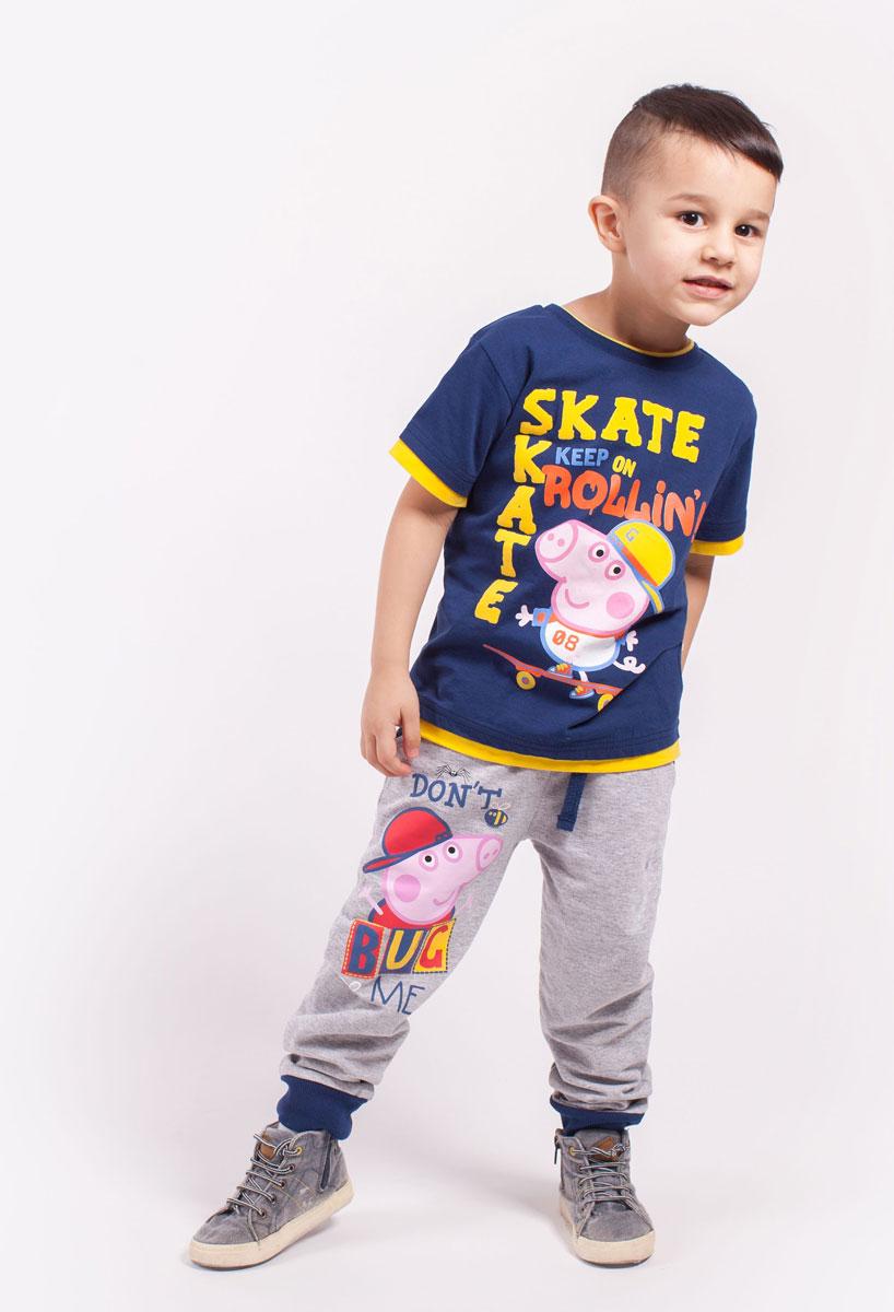 ФутболкаZB 02290-B1Удобная футболка для мальчика с принтом