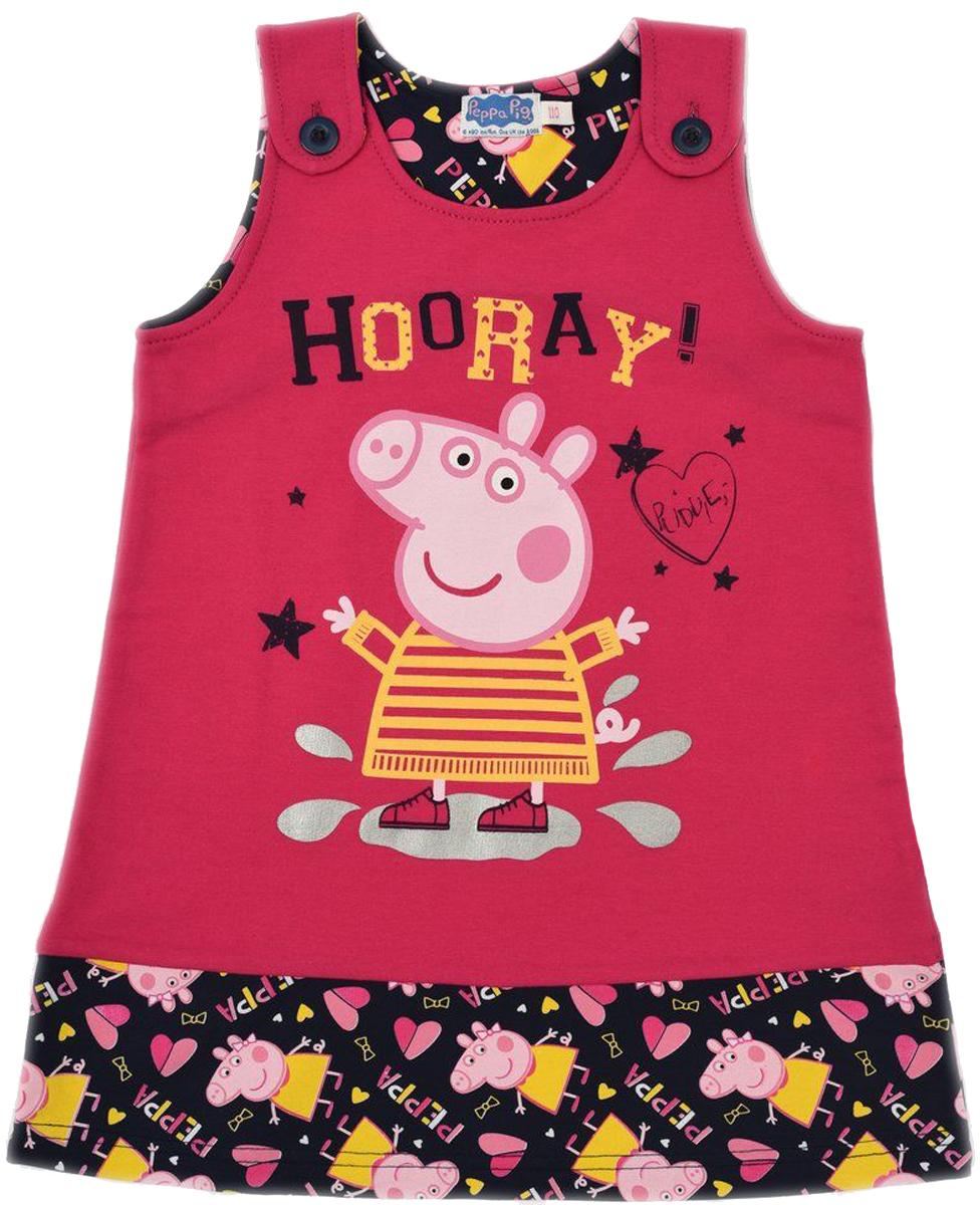 ПлатьеZG 15111-FB1Удобное платье без рукавов для девочки, декорировано принтом